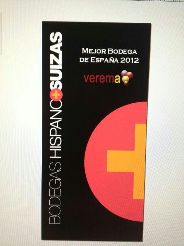 El premio Verema a la Mejor Bodega de España 2012